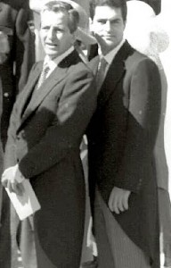 Suárez y su hijo Adolfo